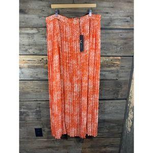 Mynt 1972 Pleated Orange Maxi Skirt 16W